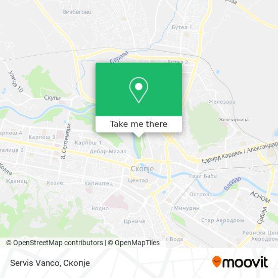 Servis Vanco map