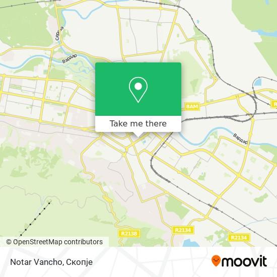 Notar Vancho map