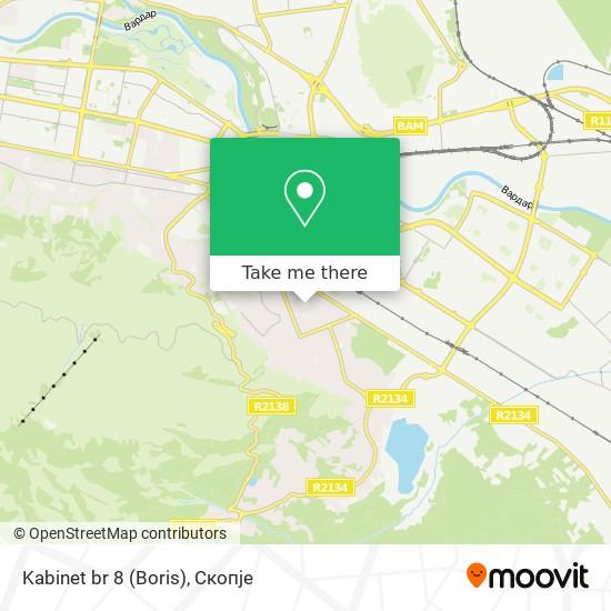 Kabinet br 8 (Boris) map