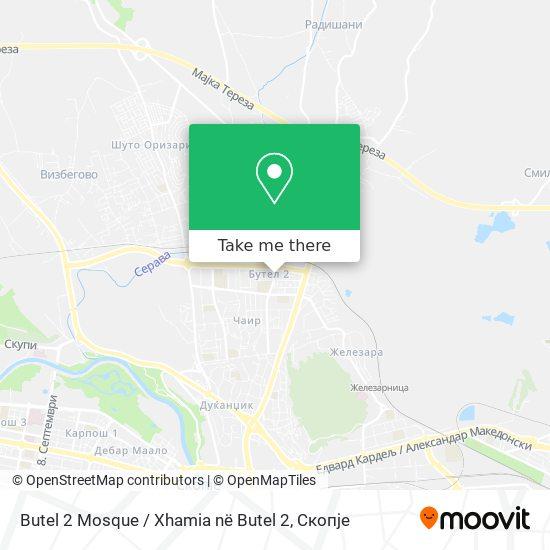 Butel 2 Mosque / Xhamia në Butel 2 map