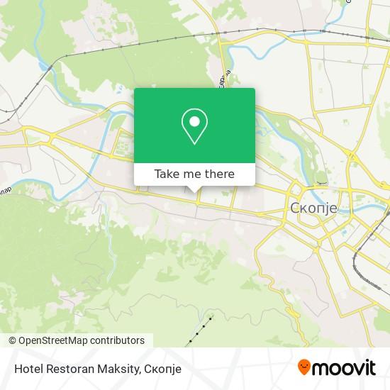 Hotel Restoran Maksity map