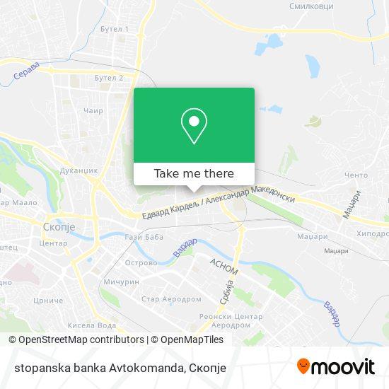 stopanska banka Avtokomanda map