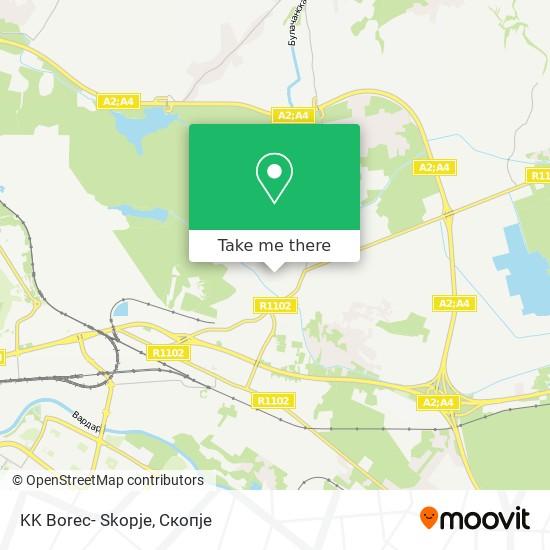 KK Borec- Skopje map