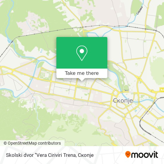 Skolski dvor ''Vera Ciriviri Trena map
