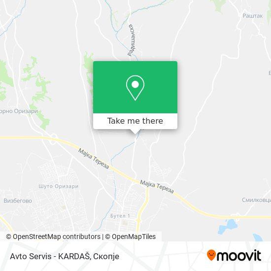 Avto Servis - KARDAŠ map