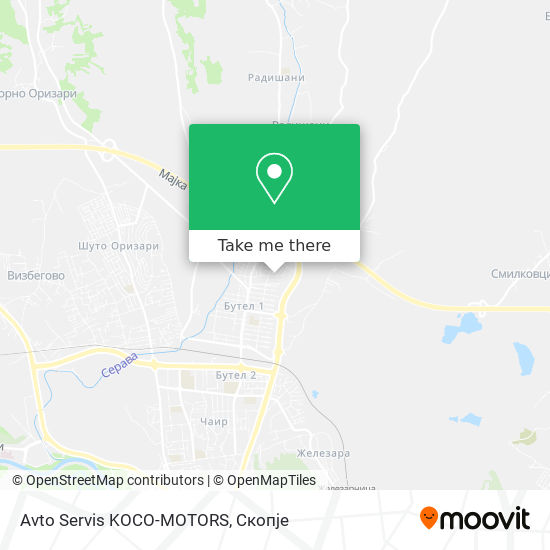 Avto Servis KOCO-MOTORS map