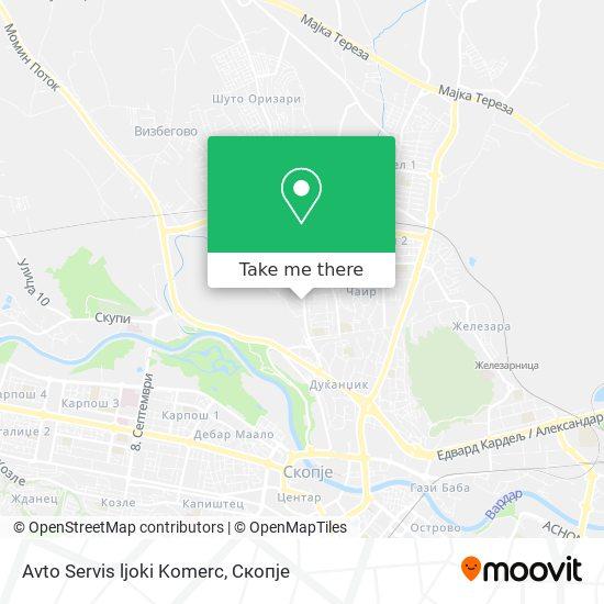 Avto Servis ljoki Komerc map
