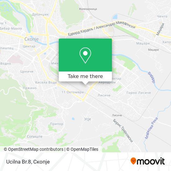 Ucilna Br.8 map
