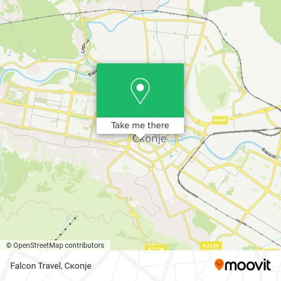 Falcon Travel map