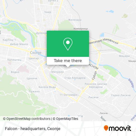 Falcon - headquarters map