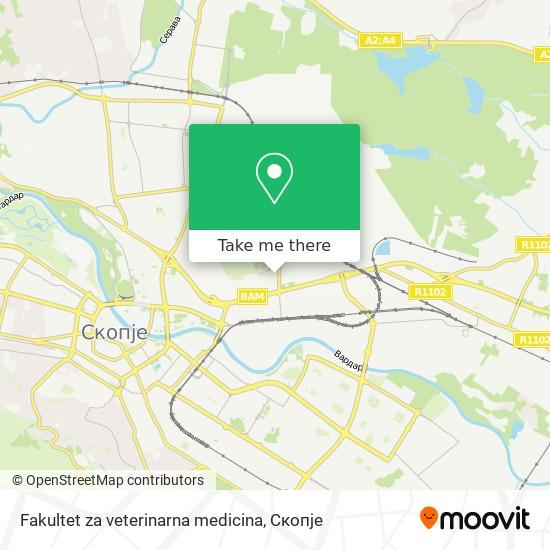 Fakultet za veterinarna medicina map