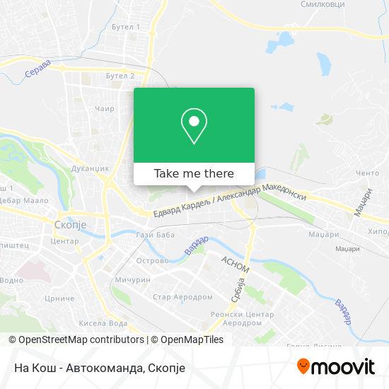 На Кош - Автокоманда map