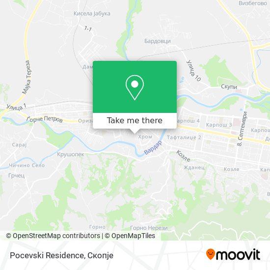 Pocevski Residence map
