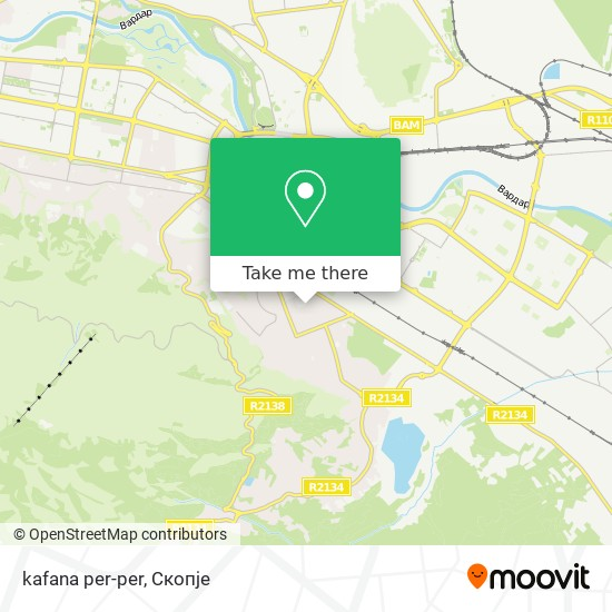 kafana per-per map