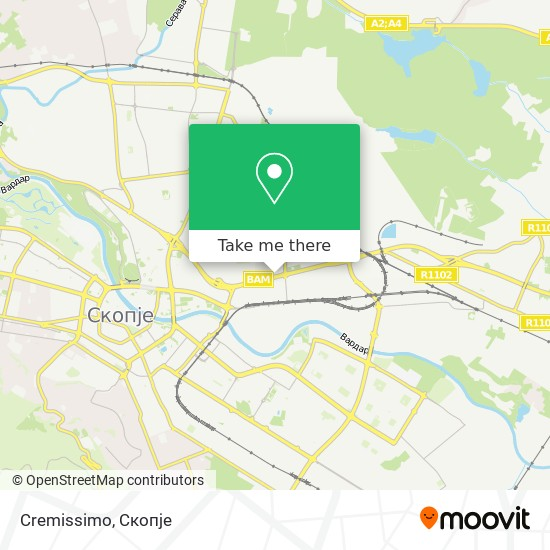 Cremissimo map