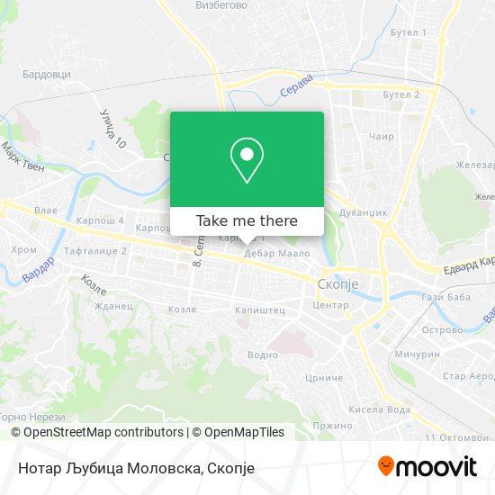 Нотар Љубица Моловска map