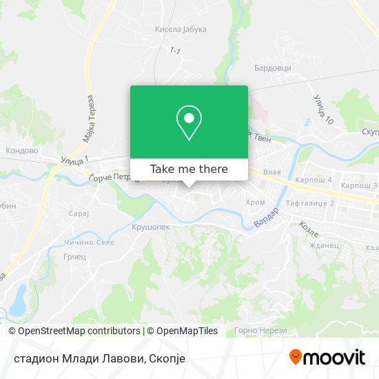 стадион Млади Лавови map