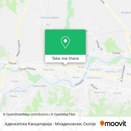 Адвокатска Канцеларија - Младеновски map