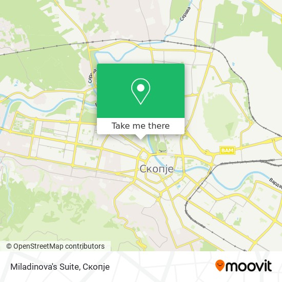 Miladinova's Suite map