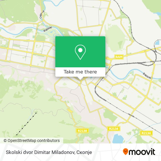 Skolski dvor Dimitar Miladonov map