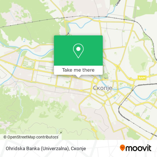 Ohridska Banka (Univerzalna) map