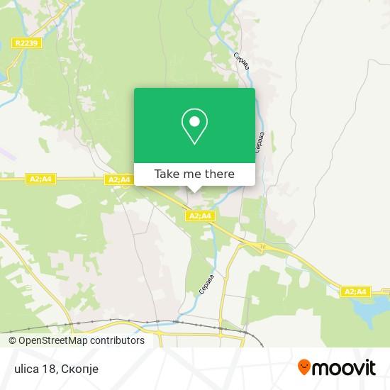 ulica 18 map