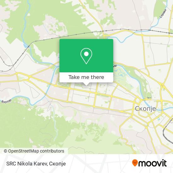SRC Nikola Karev map