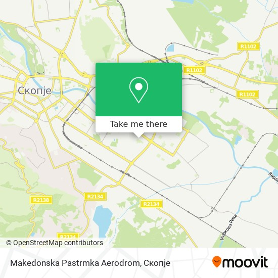 Makedonska Pastrmka Aerodrom map