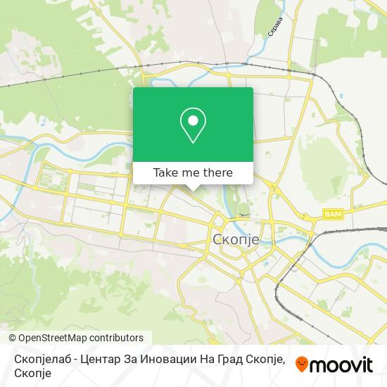 Скопјелаб - Центар За Иновации На Град Скопје map