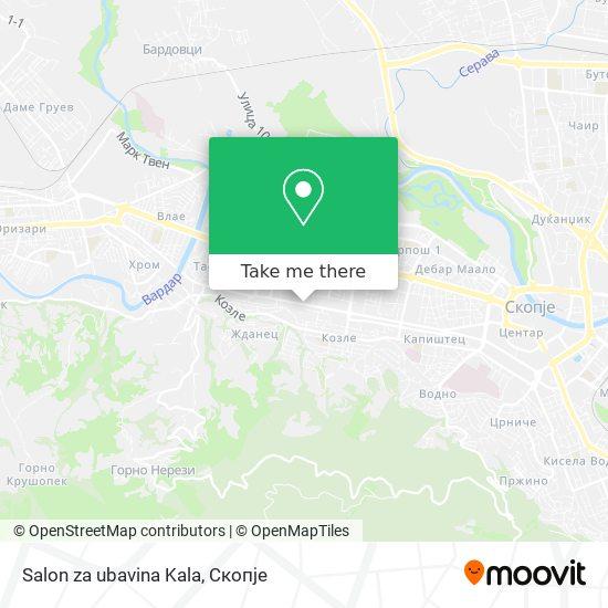 Salon za ubavina Kala map