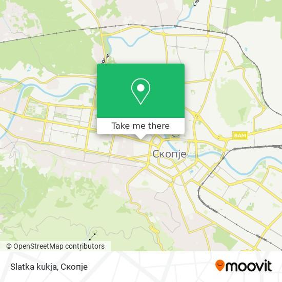 Slatka kukja map