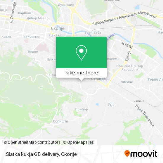 Slatka kukja GB delivery map