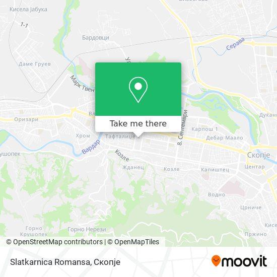 Slatkarnica Romansa map