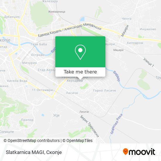 Slatkarnica MAGI map
