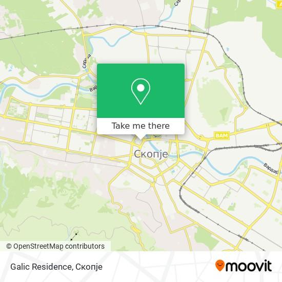 Galic Residence map