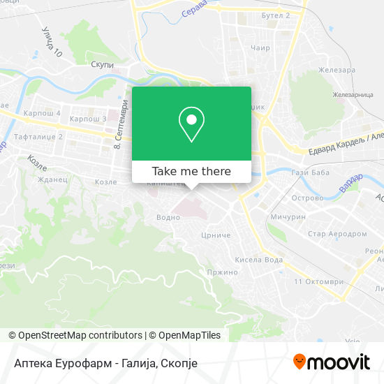 Аптека Еурофарм - Галија map