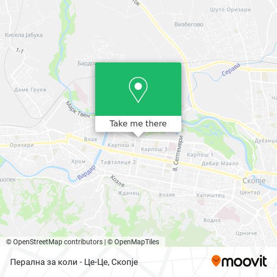 Перална за коли - Це-Це map