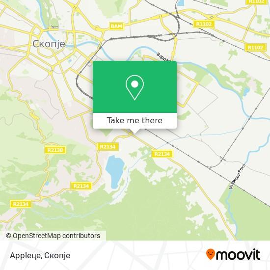Appleце map