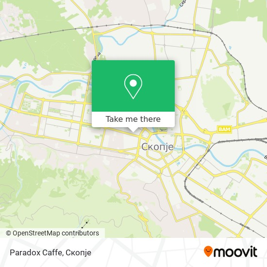 Paradox Caffe map