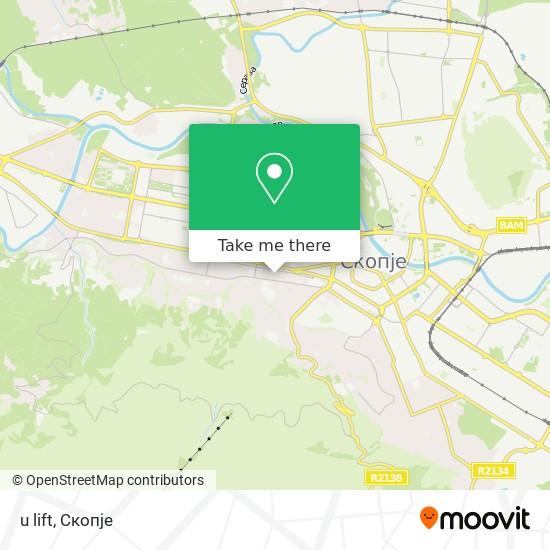 u lift map