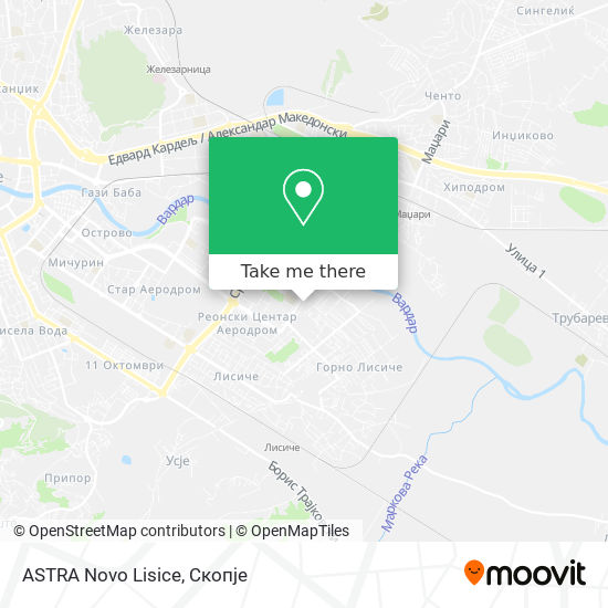 ASTRA Novo Lisice map