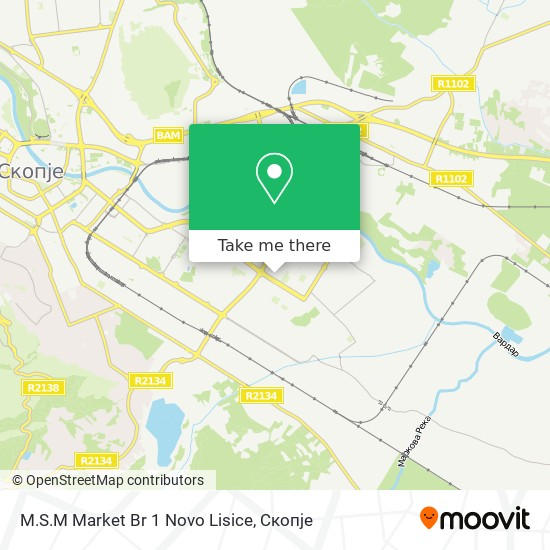 M.S.M Market Br 1 Novo Lisice map