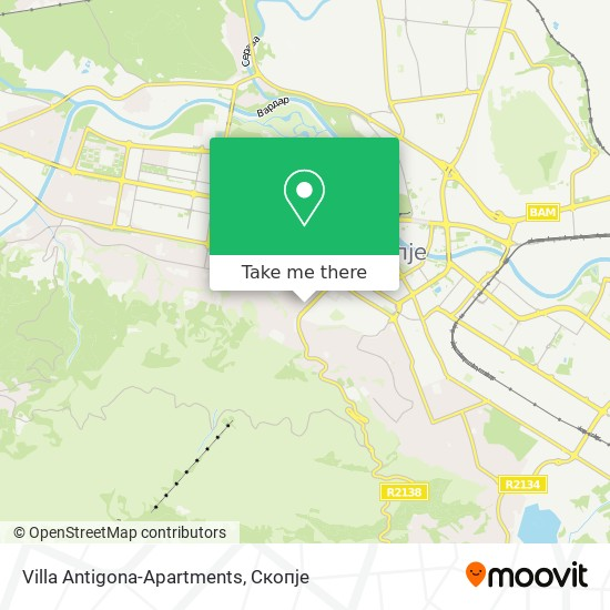 Villa Antigona-Apartments map