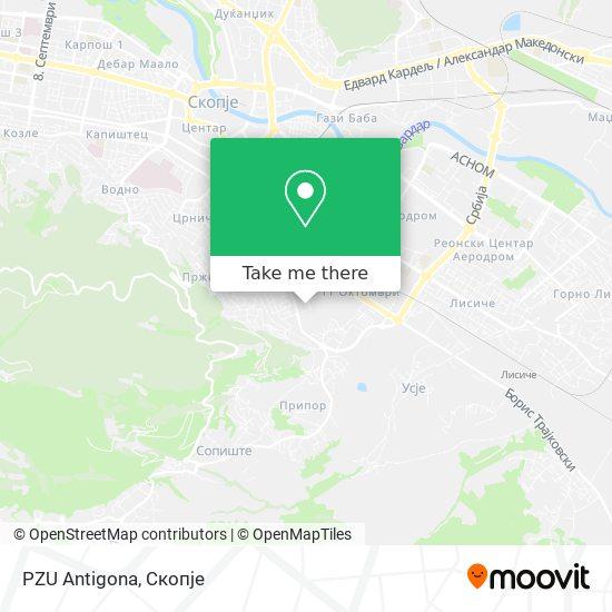 PZU Antigona map