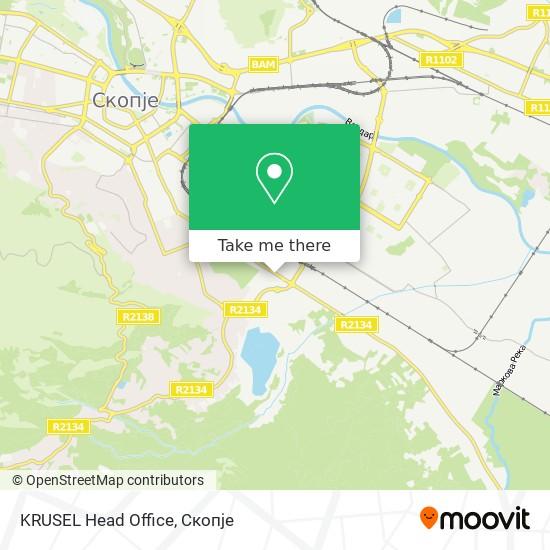 KRUSEL Head Office map
