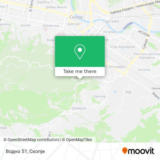 Водно 51 map