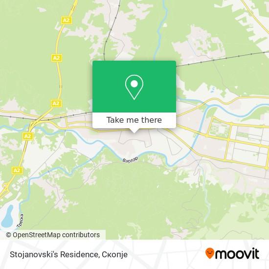 Stojanovski's Residence map