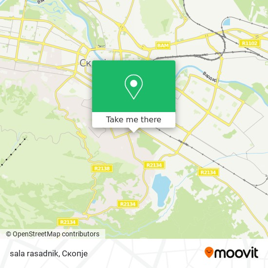 sala rasadnik map