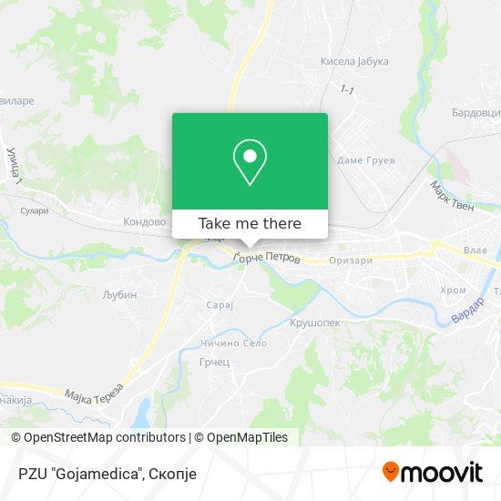 """PZU """"Gojamedica"""" map"""