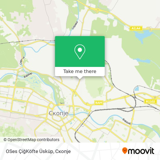 OSes ÇiğKöfte Üsküp map